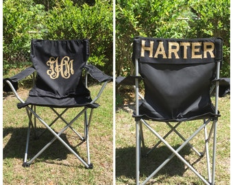 Monogrammed Camp Chair, Beach chair, Personalized Folding Chair, Sports Mom Chair, Coach's chair