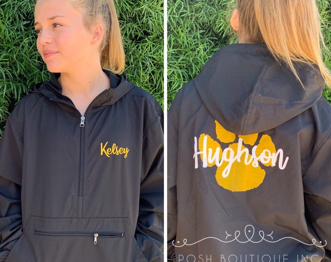 Featured listing image: Custom Cheer Jackets, Custom Windbreaker Jacket, Lightweight Rain Jacket, Pullover Jacket for Cheerleaders, Cheer Team Rain Jacket