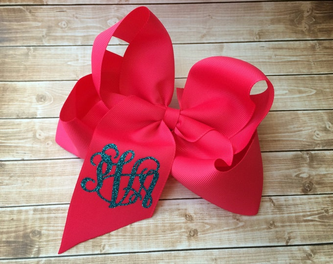 Monogrammed Boutique Hair Bow, Monogrammed gifts, Hair Bows for Girls, Boutique Hair Bows