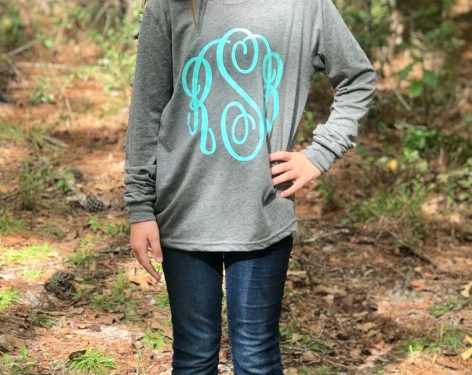 Monogrammed T shirt, Monogram Tee Shirts, Mother Daughter T shirts, Monogrammed shirts, Monogram Long Sleeve Shirts, Gifts Under 20