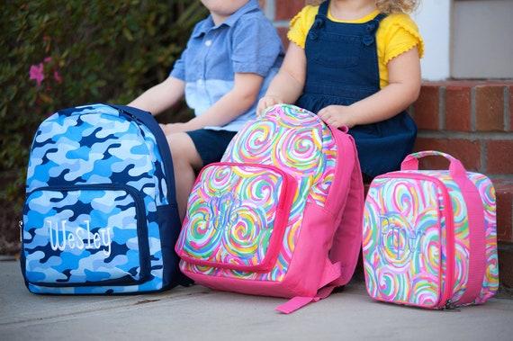 Monogrammed Preschool Backpack, Toddler Backpacks, Girls and Boys Backpacks