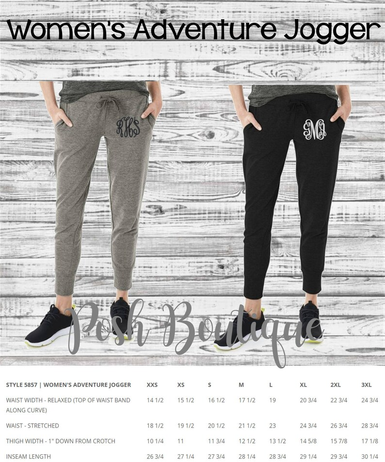 Bridesmaid gift Gifts for Her Charles River Apparel Monogrammed Gifts Monogram Joggers Womens Jogger Sweatpants Monogrammed Sweatpants