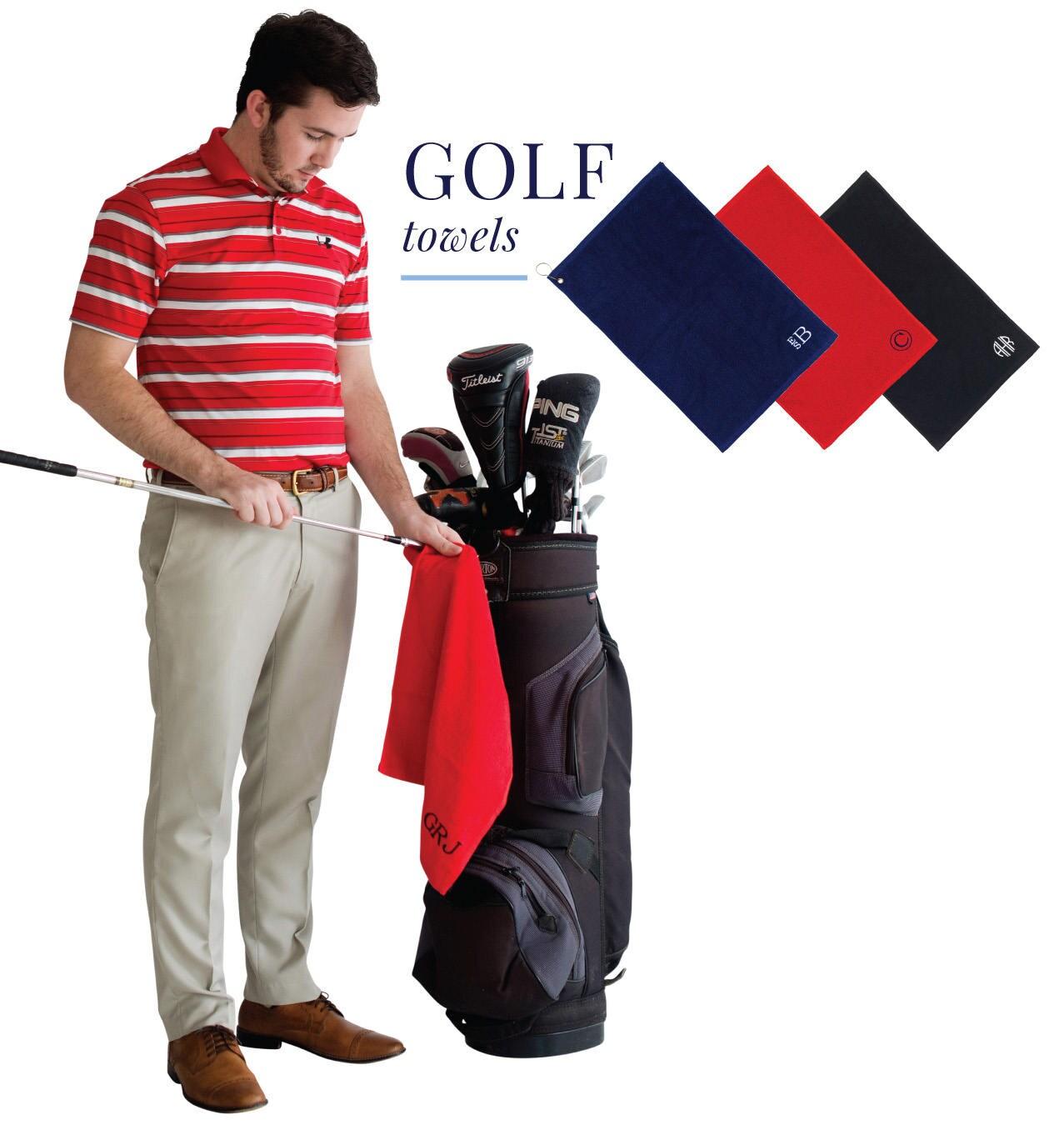 Monogrammed Golf Towels, Monogrammed Gifts, Monogram Golf