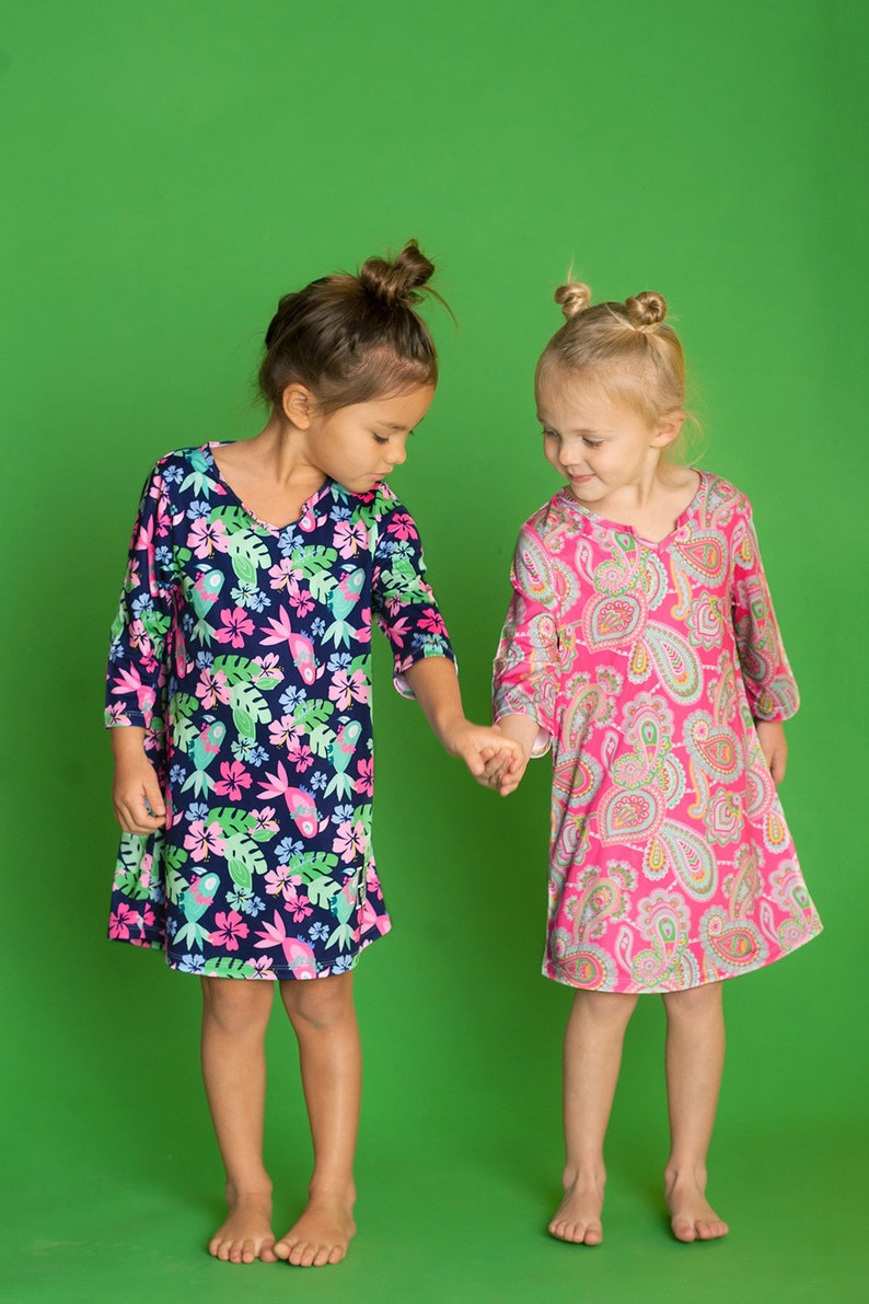 9182f6f0d5b Girls Swimsuit Cover Up Girls Tunic Cover Up Toddler Tunic
