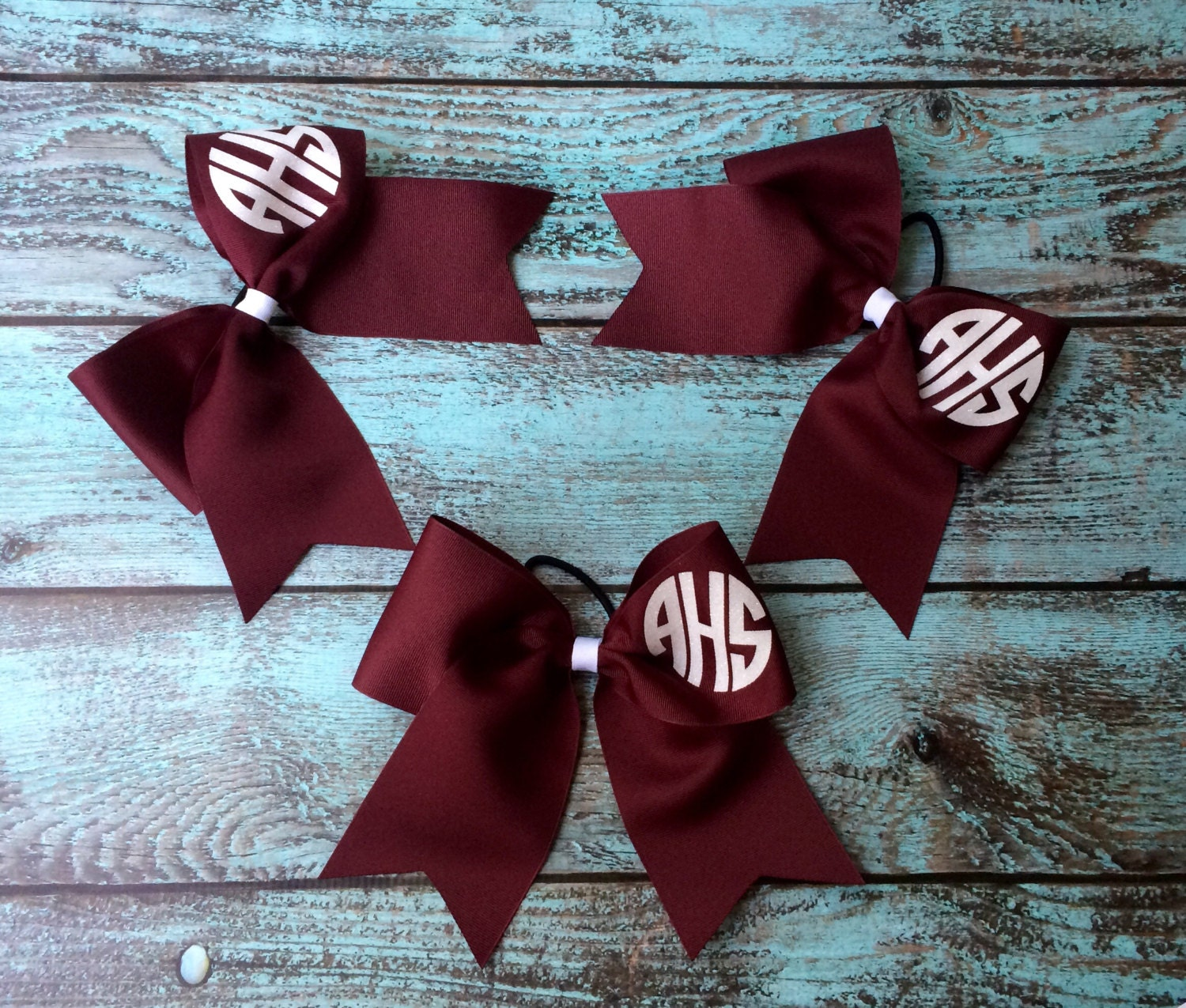5f0f54703813 Glitter Monogram Cheer Bow