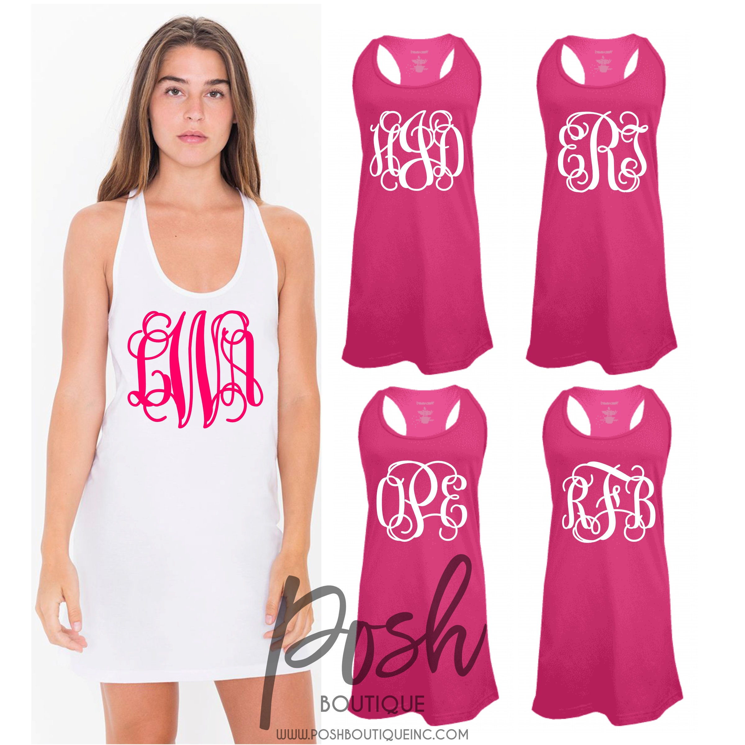 def72ec148 Custom Swimsuit Coverup, Personalized Tank Dress, Bridesmaid ...