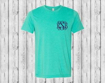 Monogrammed Shirt, Monogrammed T shirt, Monogram Tee Shirt, Monogram Shirt, Girls Monogram Shirt, Ladies Monogram Shirt