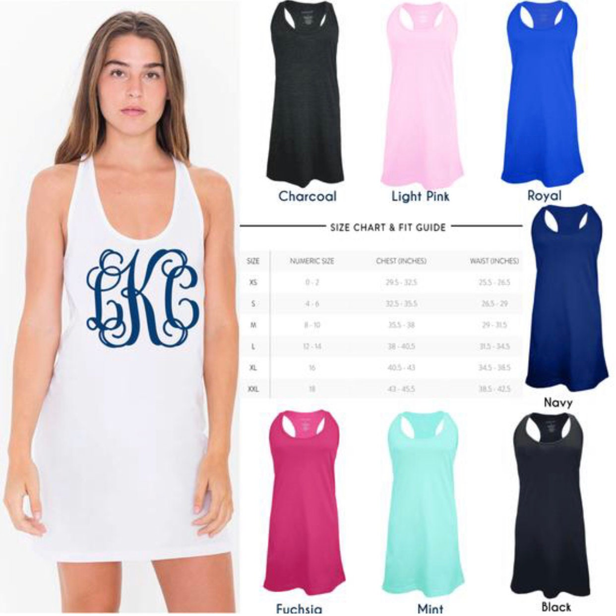da4bce86f4 ... Cover Ups, Monogrammed Beach Coverup, Tank dress, Bridesmaid Gifts,  Cruise, Wedding, Bachelorette. gallery photo gallery photo ...