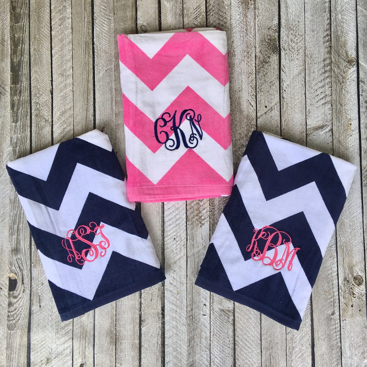 Monogrammed Beach Towels, Monogrammed gifts, Bridesmaid gifts ...