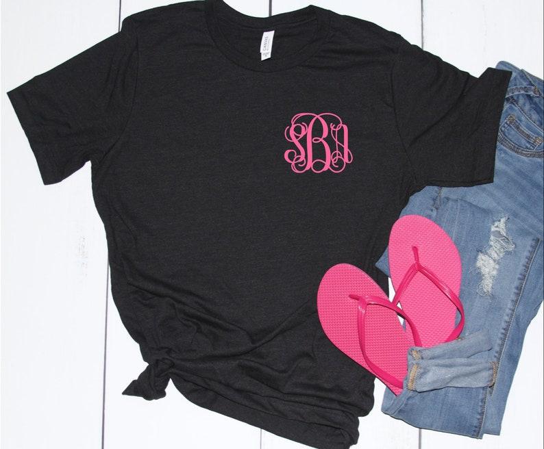 e1e193d1 Monogrammed Shirt Monogrammed T shirt 10 Dollar Monogram | Etsy