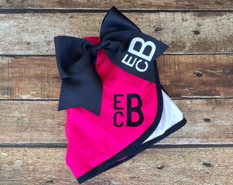 Monogrammed Cheer Shorts and Cheer Bow Set, Monogram running shorts, Monogrammed Gifts, Group Order Discounts