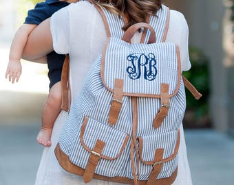 Monogrammed Backpack, Bookbag, Personalized Backpack, Monogrammed Gifts, Back to School, Graduation Gifts, College, Preppy Backpack