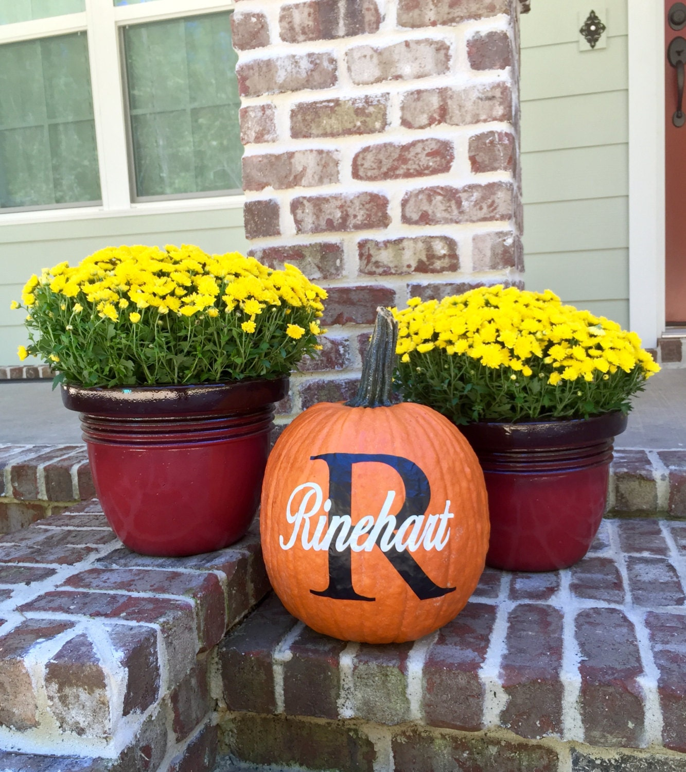 Personalized Pumpkin Decals, Fall Decorations, Fall
