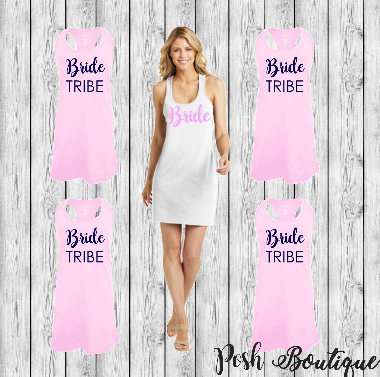 de65ddc2fde45 Custom Swimsuit Coverup, Personalized Tank Dress, Bridesmaid Tank Dress,  Bachelorette Tank Dress. gallery photo gallery photo ...