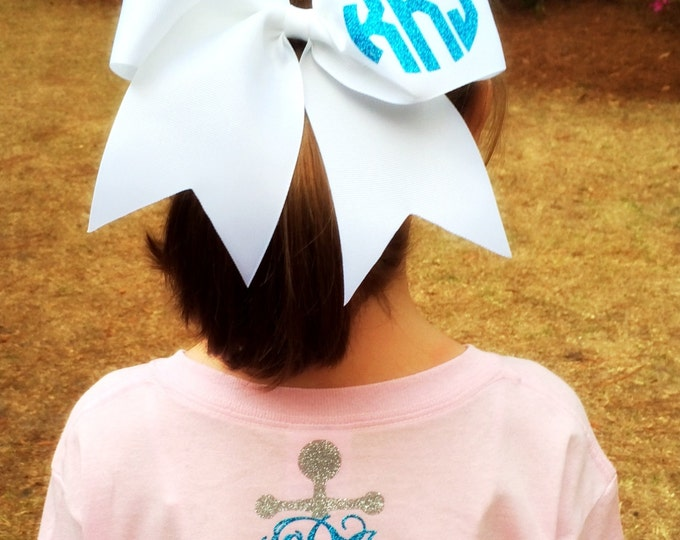 Glitter Monogram Cheer Bow, Monogrammed Cheer Bows, Monogrammed Gifts, Big Cheer Bow, Cheerleader bows, Bows for Cheer, TEAM DISCOUNTS