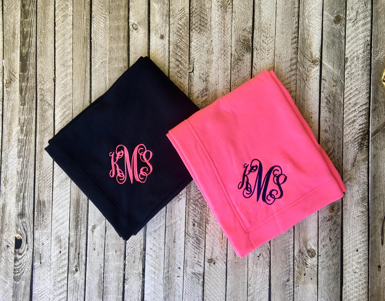 Monogram blanket, Monogrammed gifts, Personalized blanket ...