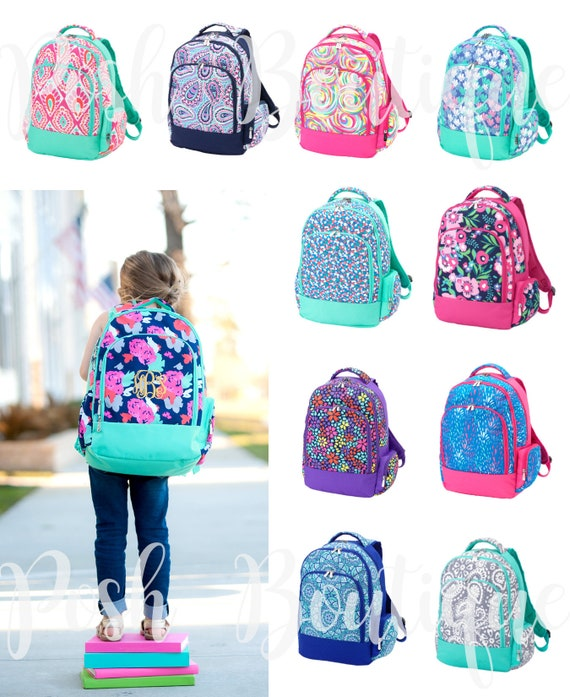 ... Preppy Backpack, School  Monogrammed Backpacks Girls and Boys Backpacks  Personalized new concept bda9e 43882 ... 3098694f50