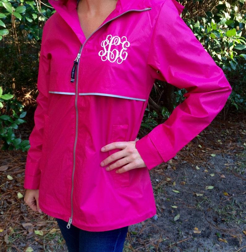 Womens Rain Jacket Monogrammed Rain Jacket New Englander Rain Jacket Rain Jackets Charles River Rain Jacket Free Shipping