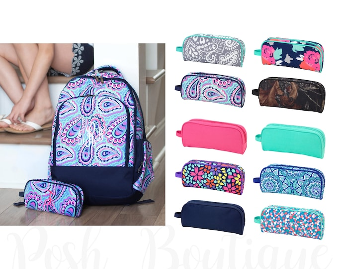 Monogrammed Pencil Pouch, Back To School, Monogrammed Gifts, Girls Pencil Case, Boys Pencil Case