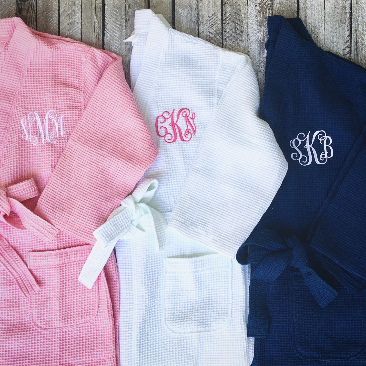 Monogrammed Waffle Robe, Bridesmaid Robe, Monogrammed Robe, Ladies ...