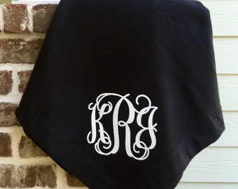 Monogram blanket, Monogrammed blanket, Personalized Blanket, Gifts for Her, Gifts for Him, Tailgate Blanket, Monogrammed gifts, Team Gifts