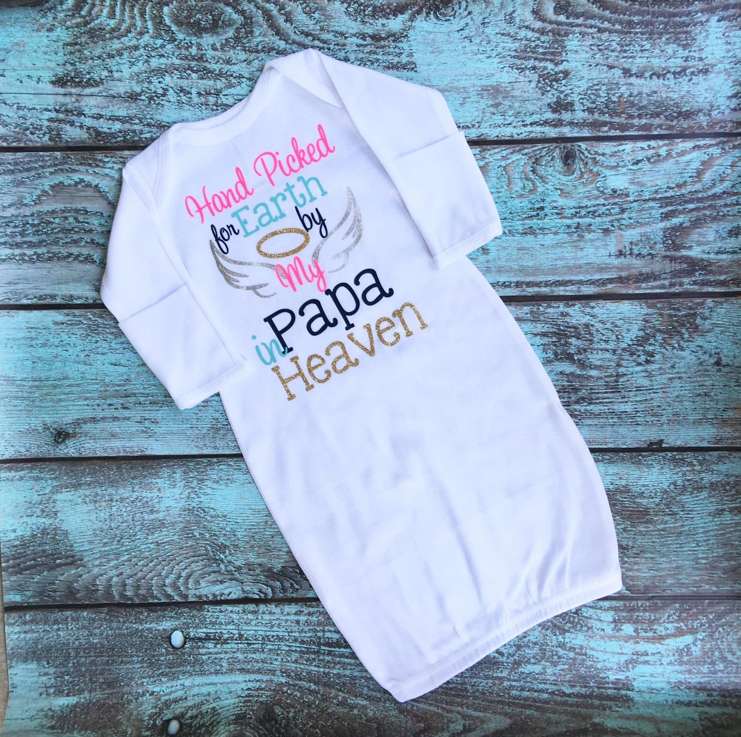 Personalized Baby Gown, Custom Baby Gown, Heaven Baby Gown, Baby ...