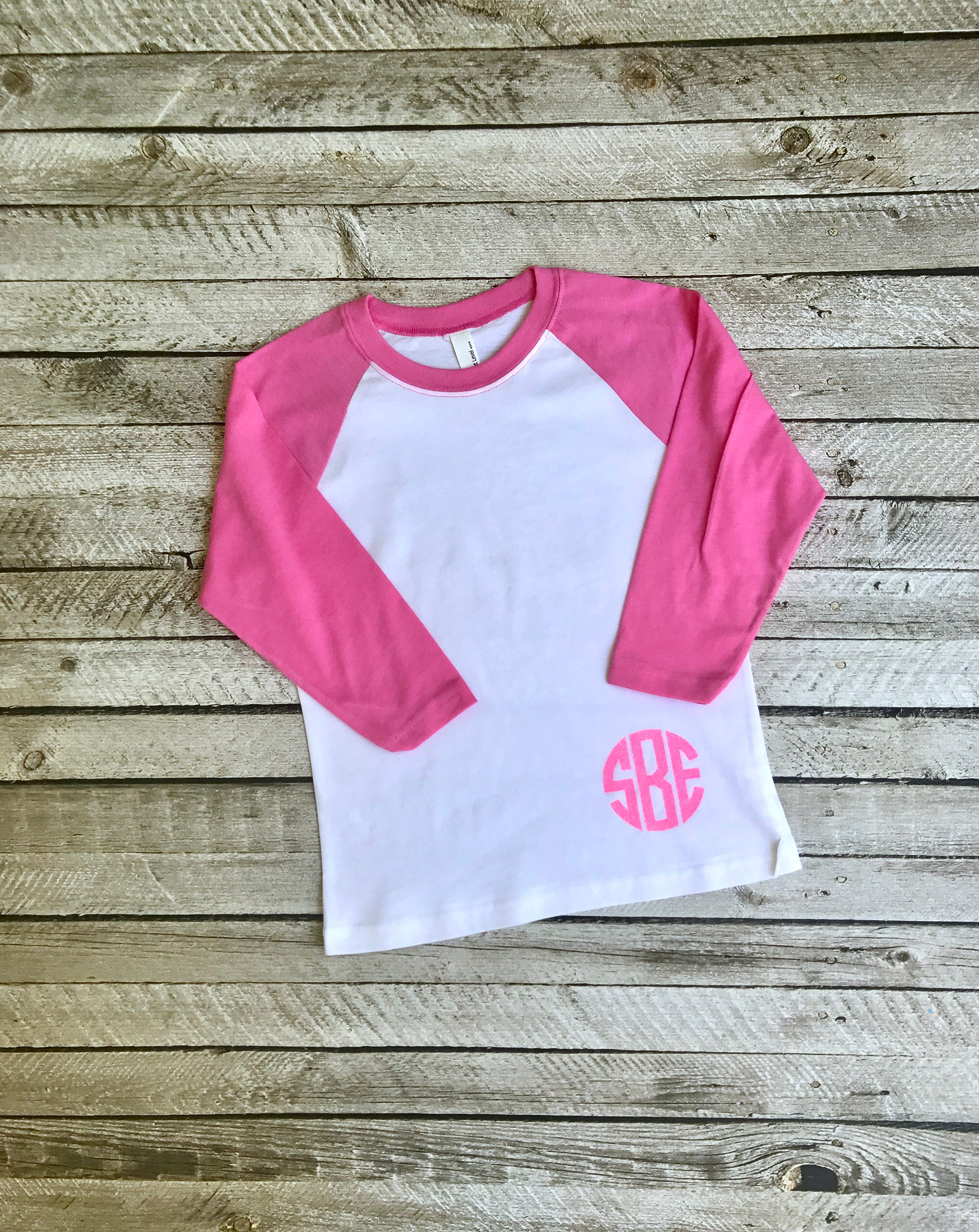 Set of 5 bridesmaid monogram shirts . Christmas shirts . Monogram raglan baseball shirts . Baseball t-shirts . Monogram initial tees 6Noe4KvOKy