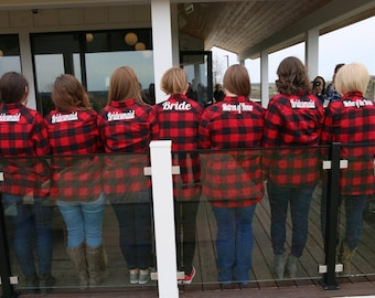 Monogrammed Flannel Shirts, Monogrammed Buffalo Plaid Flannel Shirts, Monogrammed Shirts, Bridesmaid Shirts, Flannel Tunic Shirt
