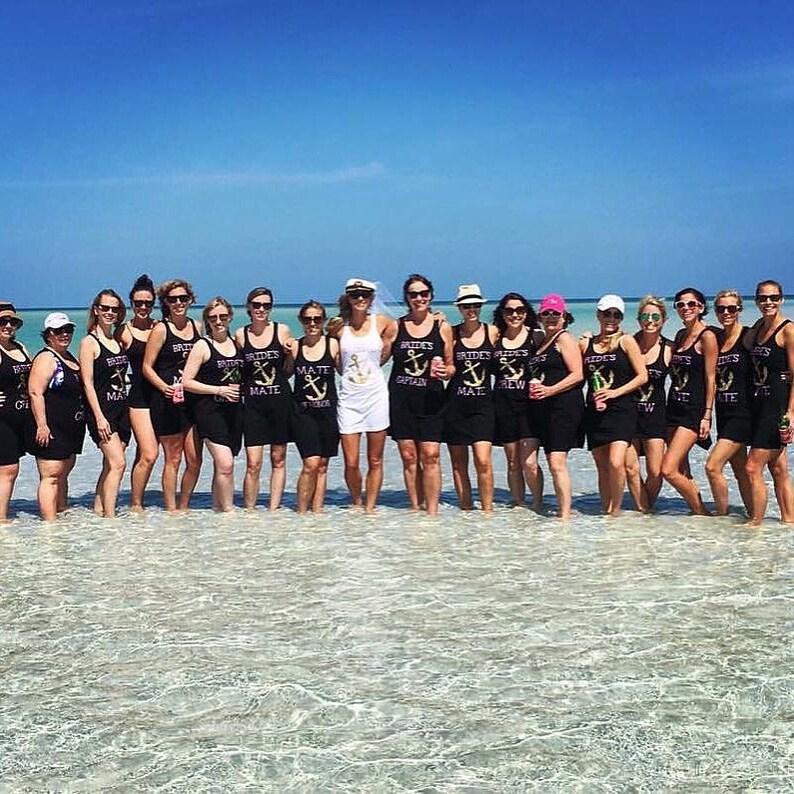 345c3e72df268 Bride swimsuit coverup Bridesmaid tank Maid of honor Brides | Etsy