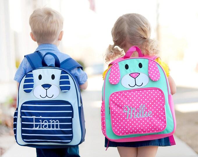 Puppy Backpack, Monogrammed Backpack, Preschool Backpack, Back to School, Preppy Backpack, Girls Backpacks, Boys Backpacks