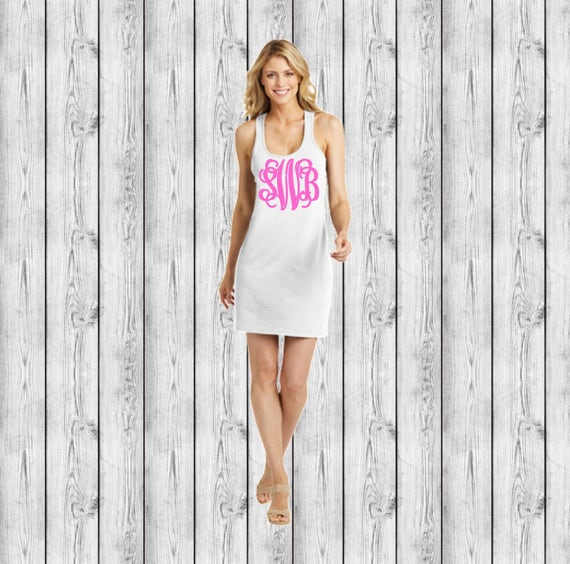 3162b375cae Monogrammed Swimsuit Coverup Custom Swimsuit Coverup