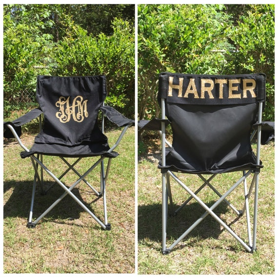 Swell Monogrammed Camp Chair Custom Folding Chair Bag Chair Personalized Folding Chair Game Day Chair Tailgate Chair Camping Chairs Inzonedesignstudio Interior Chair Design Inzonedesignstudiocom