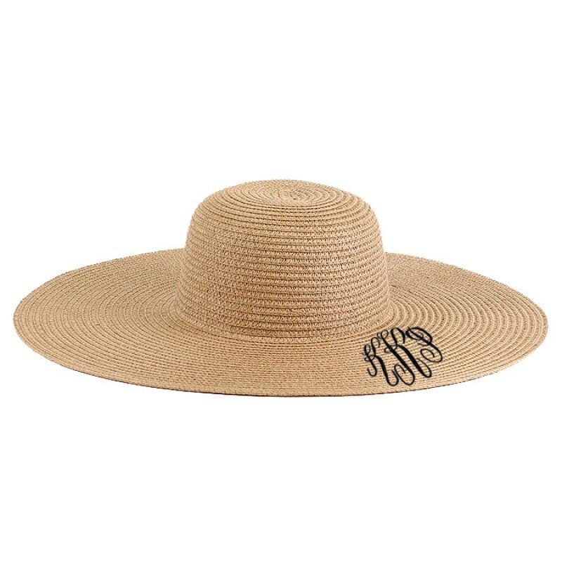6a565b4ca Monogrammed Floppy Hats, Bridesmaid Gifts, Beach Hat, Monogrammed ...