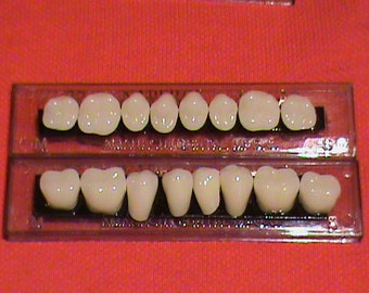 One set of posterior acrylic resin denture/false teeth. Available in shades  A3, size 22