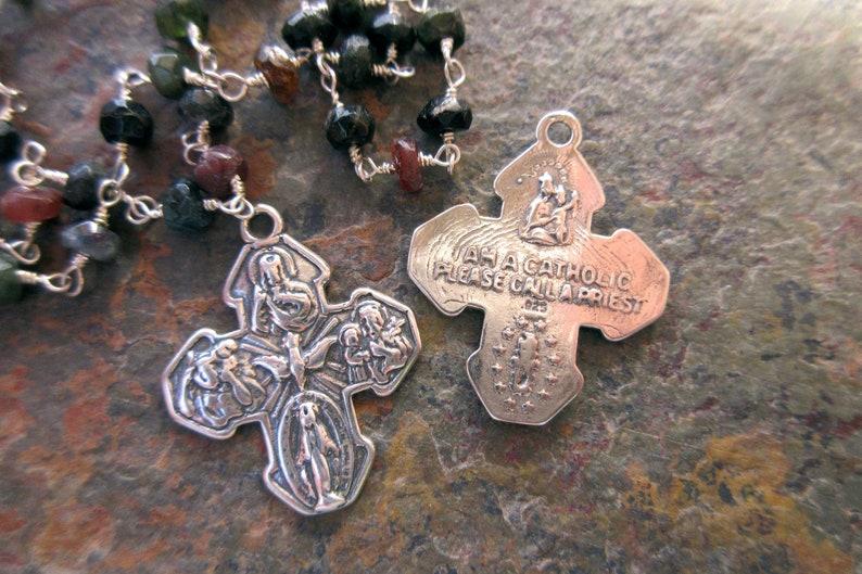 1159801985 1pc scapolare medaglia 4 Via Croce ciondolo argento 925 | Etsy