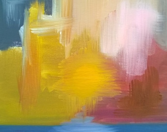 Abstract #10 - Oil on Canvas Panel - 9 x 12 inches
