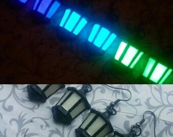 Lantern Earrings Glow-in-the-Dark // Violet, Blue, Green