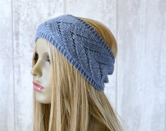 KNITTING PATTERN Chevron Lace Headband Summer Headwrap Quick and easy pattern Instant Download Intermediate Beginner
