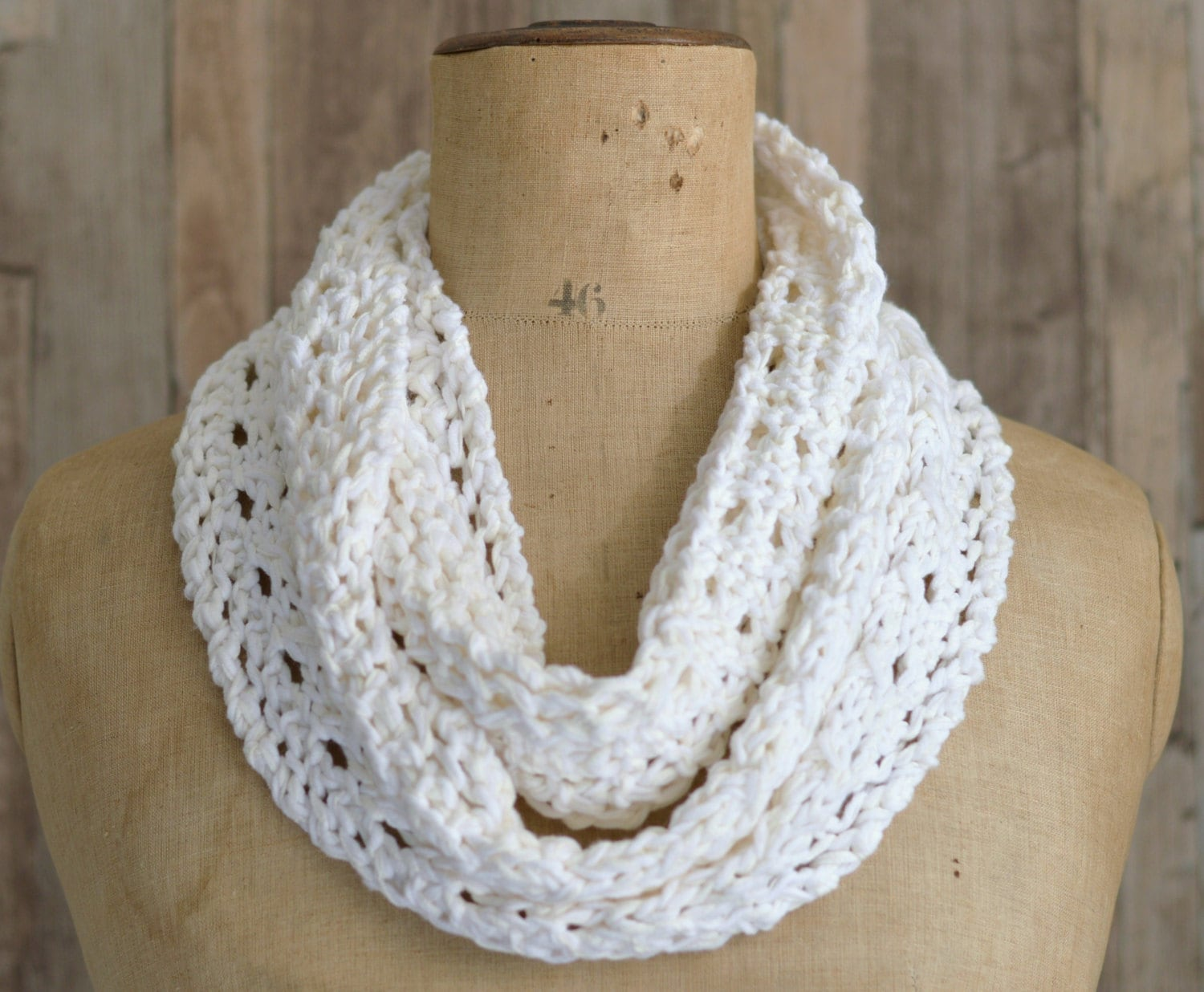 KNITTING PATTERN Lace Scarf Simple Knit Pattern Infinity Scarf ...