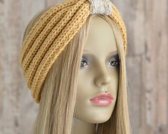 NEW KNITTING PATTERN Rib Cinch Headband Easy Quick Beginner Headwrap Knitting Pattern Instant Download Digital File