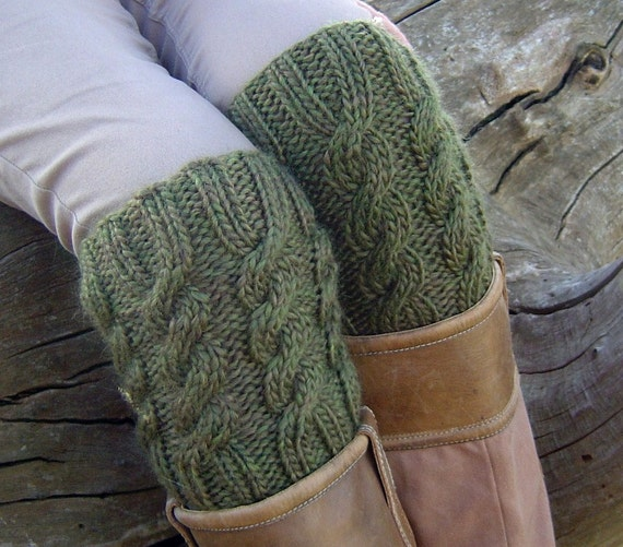 Knitting Pattern Boot Cuff Boot Topper Easy Cable Pattern Etsy