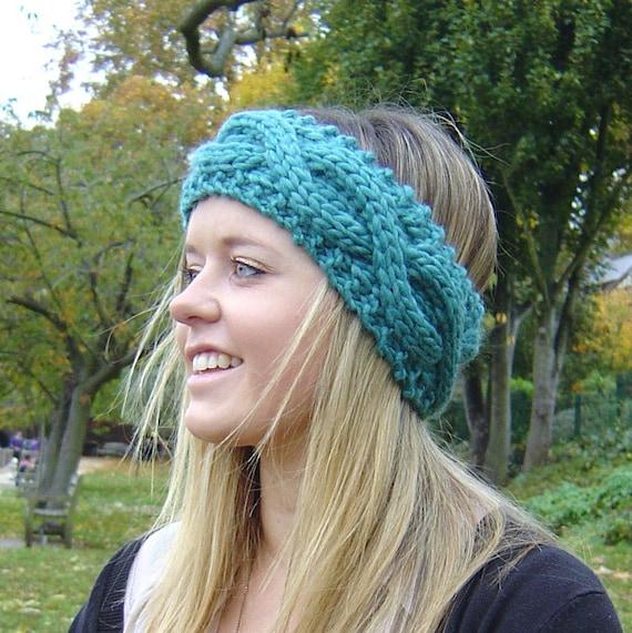 Knitting Pattern Cable Headband Ear Warmer Easy Beginner Knit Etsy