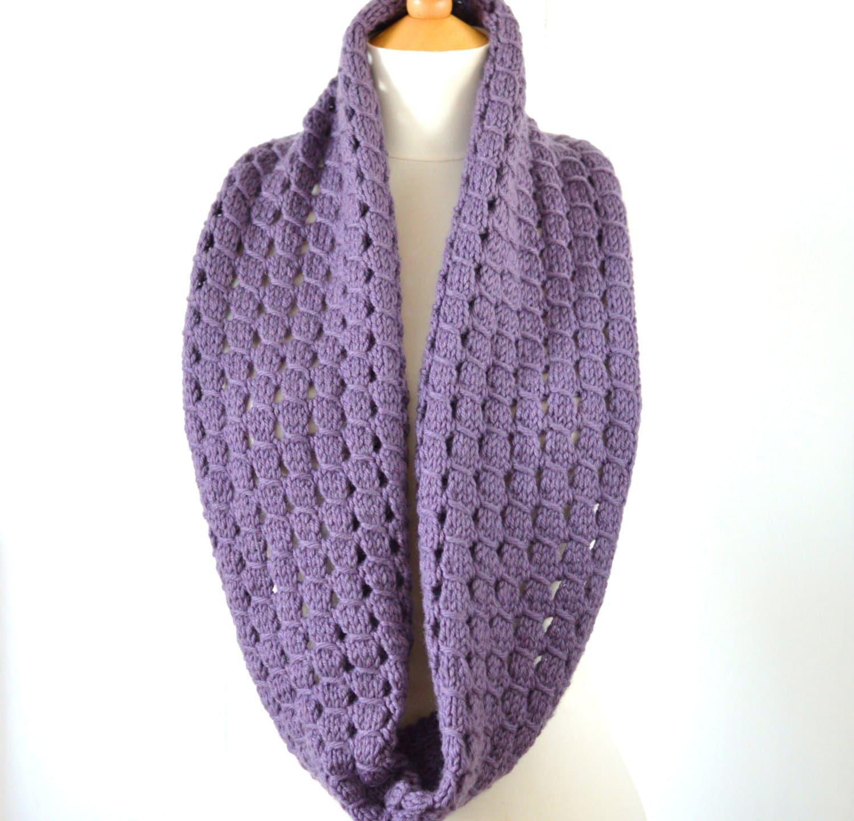 Knitting Pattern Infinity Scarf Easy Improving Beginner Etsy