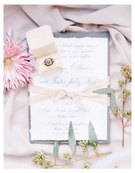 Invitations Calligraphy Custom Made Wedding Decor Custom Hand Lettered invitations Personalized