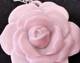 Rose Necklace, Porcelain Necklace