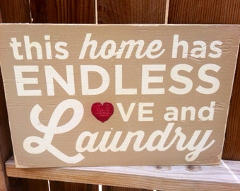 12x18 Endless Love and Laundry