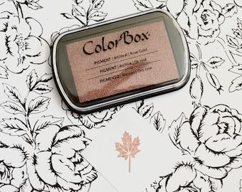 Rose Gold Metallic Ink Pad - Colorbox Pigment Ink pad in Metallic Rose Gold
