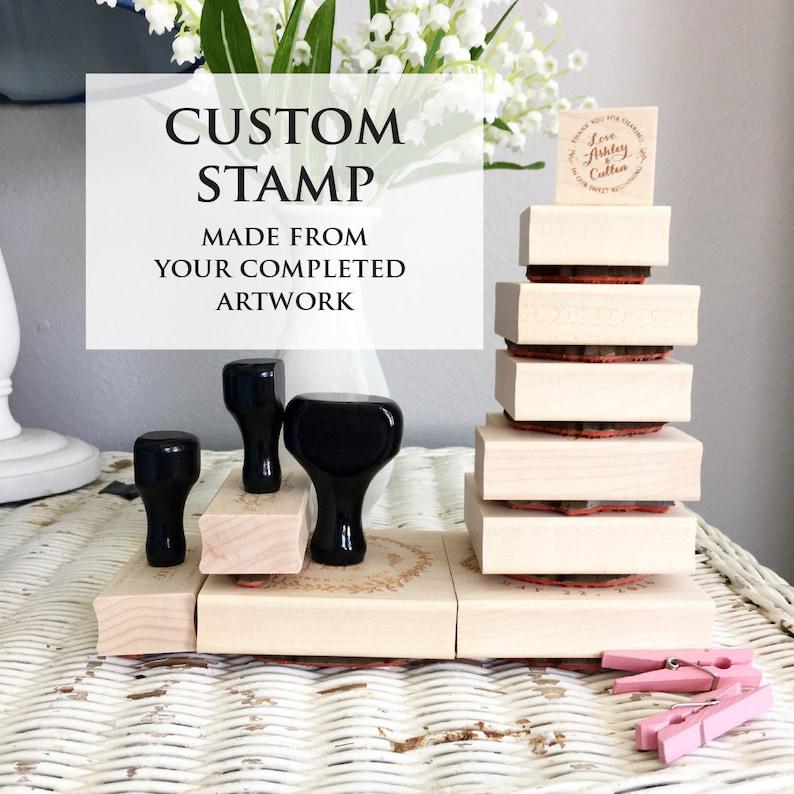 Your Custom stamp Business Stamp Wedding Stamp Image or image 0