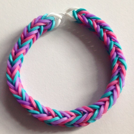 Items Similar To Purple Pink And Blue Fishtail Rubber