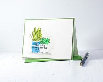 Thanks for Everything | Succulent Thank You Card